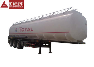 Total Standard 10000 Gallon Fuel Tank Trailer , 45cbm Trailer Gas Tank Big Volume Anti - Corrosion Paint