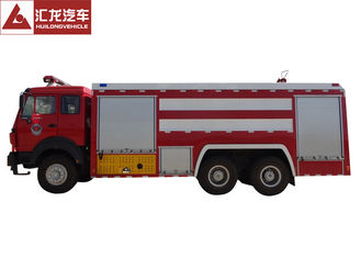 Northern Benz Fire Fighting Vehicle , Large Fire Truck Red Color Large Volume