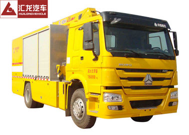 Yellow Color Fire Fighting Vehicle Large Flow Drainage 300HP 5000kgs Water Load